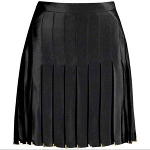 Versace x H&M Black Silk Pleated Skirt 🖤